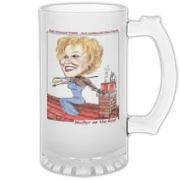 Frosted Glass Stein