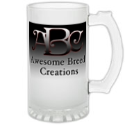Awesome Breed Creations Frosted Glass Stein