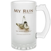 MY RUN - Design 1 Frosted Glass Stein