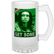 Casey Anthony Gear Frosted Glass Stein