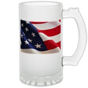 OLD GLORY -  Frosted Glass Stein