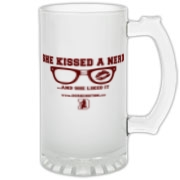 She Kissed A nerd Frosted Glass Stein