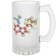 Psilocybin Frosted Glass Stein
