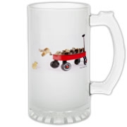 Chick jumping from wagon Frosted Glass Stein