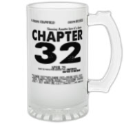 Chapter 32 Movie Poster Frosted Glass Stein