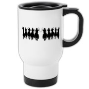 Unique western design on this handy travel mug makes the perfect gift for any occasion.