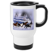 Beautiful western theme travel mug. A must for any animal lover.