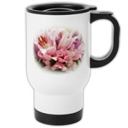A beautiful and handy travel mug for that special lady!