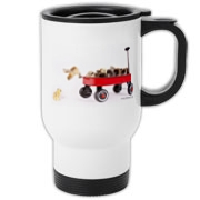 Chick jumping from wagon Travel Mug
