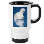Silkie on Blue Travel Mug