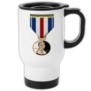 Pennies For Heroes Medal Travel Mug