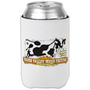 The Ossipee Valley Music Festival Acoustic Cow Can Cooler