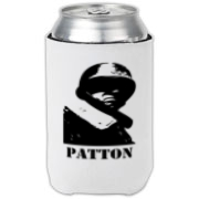 This General Patton can cooler will remind you what a real man looks like every time you take a drink.  Patton would probably put glass and razors in whatever you're drinking, to give it kick.