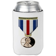 Pennies For Heroes Medal Can Cooler