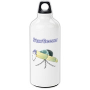 This cartoon astronomer aluminum water bottle shows an old telescope staring at the heavens, with the caption: StarGeezer. A great gift for that aging telescope enthusiast in your galaxy.