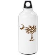 Chocolate Brown Polka Dot Palmetto Moon Aluminum Water Bottle features a chocolate brown palmetto moon with white polka dots. Buy this fun variation on the South Carolina palmetto moon flag today!