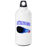 This awesome astronomy aluminum water bottle design is perfect for the astronomer who prefers to do his stargazing with a refractor. It says: Astronomer, and has a depiction of a refractor telescope.