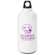 Allergic To Stupid Accessories Aluminum Water Bott