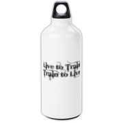 Live to Train, Train to Live Aluminum Water Bottle