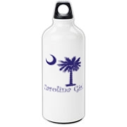 Buy a Purple Carolina Girl Aluminum Water Bottle featuring the South Carolina palmetto moon logo.