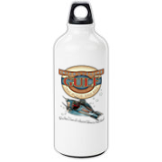 A  fine official water bottle from the Galaxy's most popular filling stations - Interstellar Gulf! Just the thing to carry whatever fluids you need to span the gulf between the stars. Or the pit stops. It works either way.