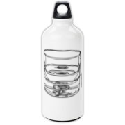 glass half full Aluminum Water Bottle