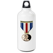 Pennies For Heroes Medal Aluminum Water Bottle