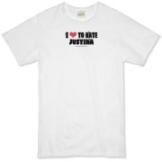 I Love To Hate Justina Organic T-Shirt