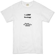 This funny geology organic t-shirt says: I LOVE Geology. (Except ... For All Those ROCKS). Any geology student will dig it.