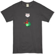 This humorous Dynamite Bowler dark bowling t-shirt design shows a bowling ball with sticks of dynamite in the finger holes, all lined up and ready to knock down the bowling pins. No spares, guaranteed.