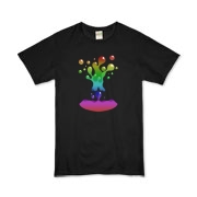 Lava Lamp Rainbow Organic Kids T-Shirt