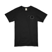 Buy a Black Palmetto Moon Organic Kids T-Shirt featuring a smaller palmetto printed on the left chest area. The palmetto moon is a symbol of South Carolina pride.