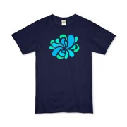 Swirl Burst Blue Organic Kids T-Shirt