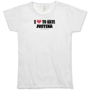 I Love To Hate Justina Organic Women's T-Shirt