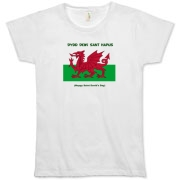 Dydd Dewi Sant Hapus (Happy Saint David's Day) in English and Welsh with the Welsh Flag, Y Ddraig Goch
