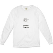 This cartoon bug organic long sleeve t-shirt uses pseudo-Latin Insectus Vulgarius to label the image of a disgusting cockroach. Biology may be an interesting science, but some insects are just creepy.