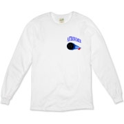 This awesome astronomy long sleeve t-shirt pocket emblem is perfect for the astronomer who prefers to do his stargazing with a refractor. It says: Astronomer, and has a depiction of a refractor telescope.