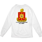 171st Field Artillery - Organic, Light Color, Long Sleeve T-Shirts. Front & Back Insignia. Available in 2 Light Colors.