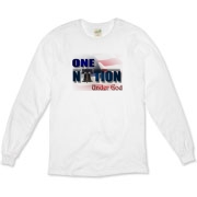 ONE NATION UNDER GOD Organic Long Sleeve T-Shirt