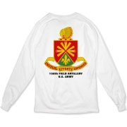 158th Artillery, MLRS - Light Color Organic Long T-Shirts: Front & Back Insignia, Available in 2 Light Colors.