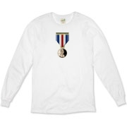 Pennies For Heroes Medal Organic Long Sleeve T-Shi