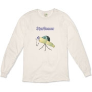 This satirical stargazer organic long sleeve t-shirt shows an old telescope staring at the heavens, with the caption: StarGeezer. A great gift for that senior citizen telescope enthusiast in your galaxy.