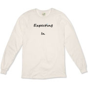 "Pregnant Expecting T-Shirt Change style or color In _______ T Baby Infant Due Born Maternity Need Inspiration ? Tee blouse top Expecting In _______  T. Fill the blank Customizable with your due date or whatever you are expecting. ""Fill in the blank,"""