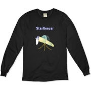 This amusing astronomer organic long sleeve t-shirt shows an old telescope staring at the heavens, with the caption: StarGeezer. A great gift for that aging telescope enthusiast in your galaxy.