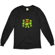 This witty math organic long sleeve t-shirt shows six massive stone Pi symbols arranged Stonehenge style. Within the circle of Pi symbols burns a sacrificial fire. Perfect for Pi Day and Pi lovers everywhere.
