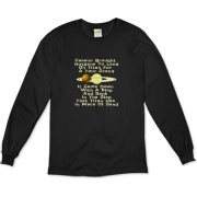 This zany astronomy long sleeve shirt uses a clever limerick to tell of the Huygens probe adventure. It shows a depiction of Saturn and its giant moon Titan.