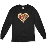 Do you love pizza? We do too. Show your love for the supreme pizza with this design. 2 slices of pizza that make a heart.