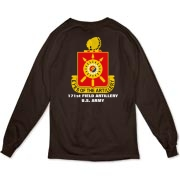 171st Field Artillery, MLRS - Organic, Dark Color, Long Sleeve T-Shirts. Front & Back Insignia. Available in 3 Dark Colors.