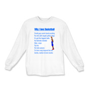 Why I Love Basketball Kids Long Sleeve T-Shirt