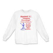 Slugging Percentage Kids Long Sleeve T-Shirt